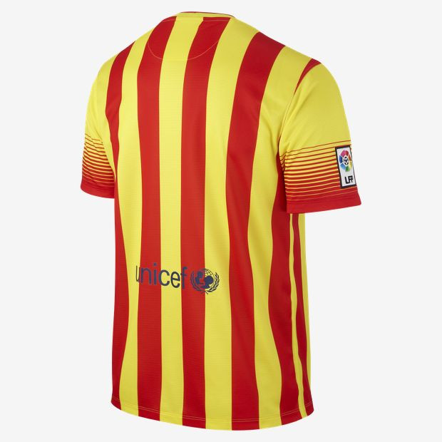 Nike barcelone maillot exterieur 2013 14 maillot rayon for Barcelone maillot exterieur