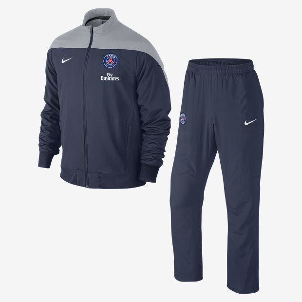 nike psg survetement bleu gris 13 14 psg club francais. Black Bedroom Furniture Sets. Home Design Ideas