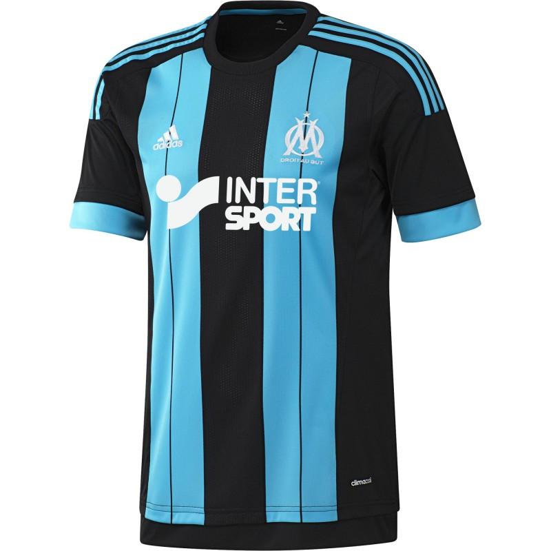 Adidas om maillot exterieur 2015 2016 olympique de for Maillot exterieur om