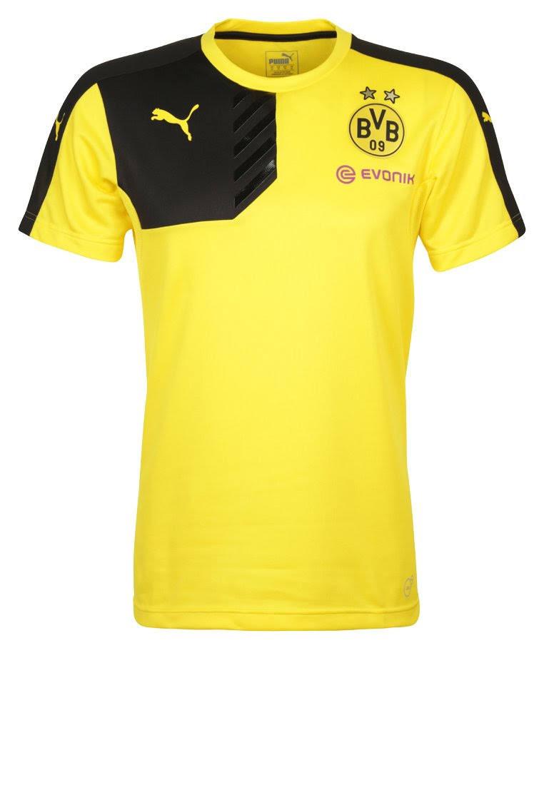 puma dortmund maillot d entrainement jaune 2015 2016 dortmund club etrangers. Black Bedroom Furniture Sets. Home Design Ideas