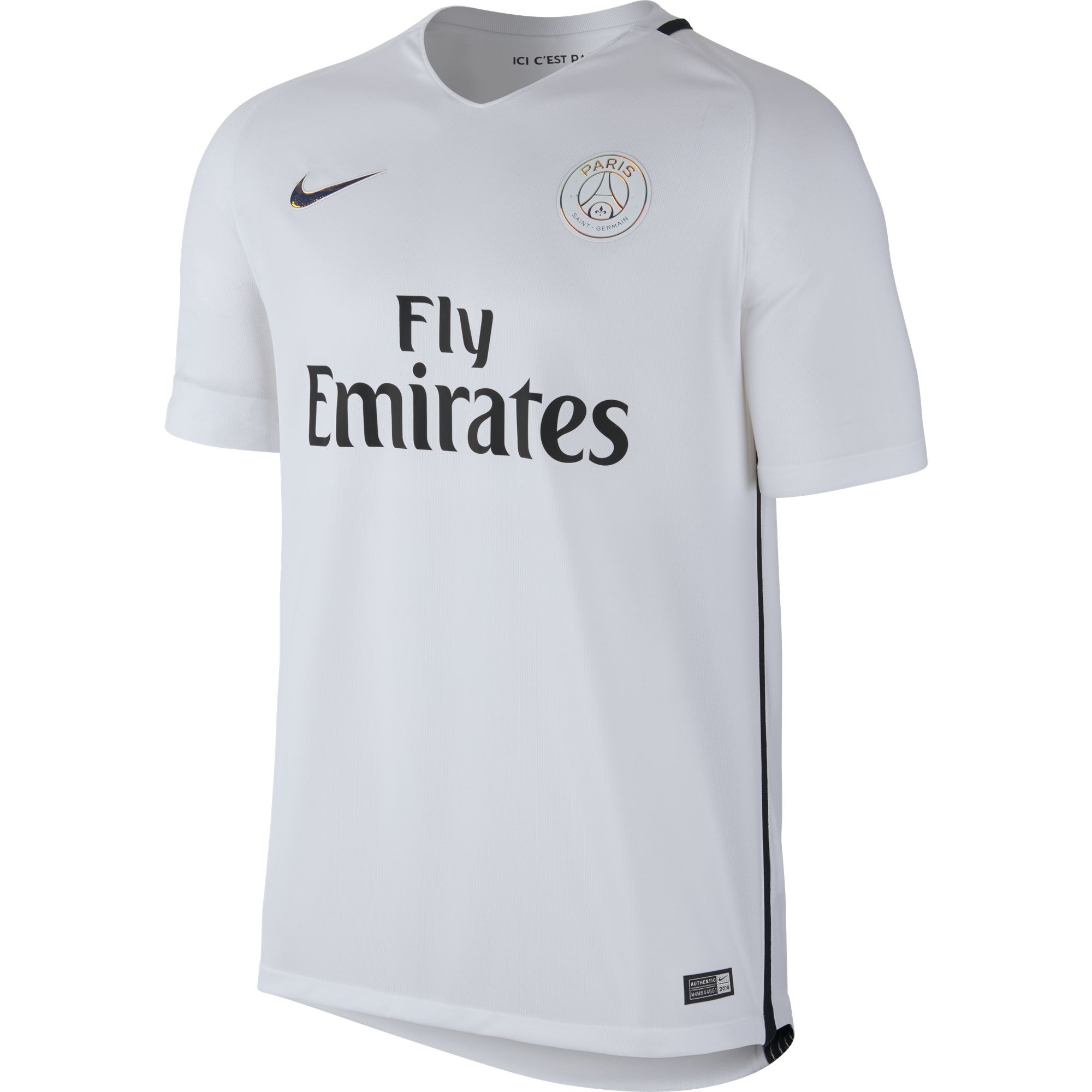 nike psg maillot third blanc 2016 2017 psg club francais. Black Bedroom Furniture Sets. Home Design Ideas