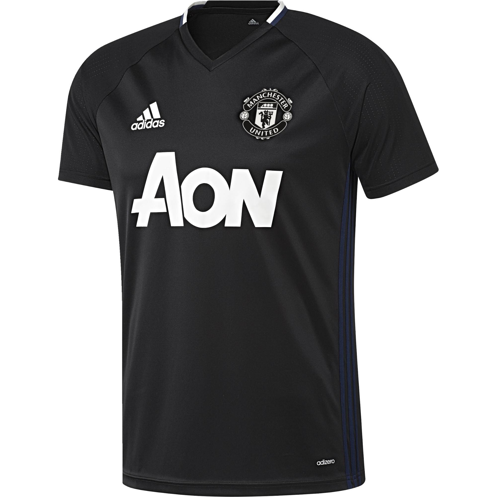 adidas manchester united maillot entrainement noir 2016 2017 manchester united club etrangers. Black Bedroom Furniture Sets. Home Design Ideas
