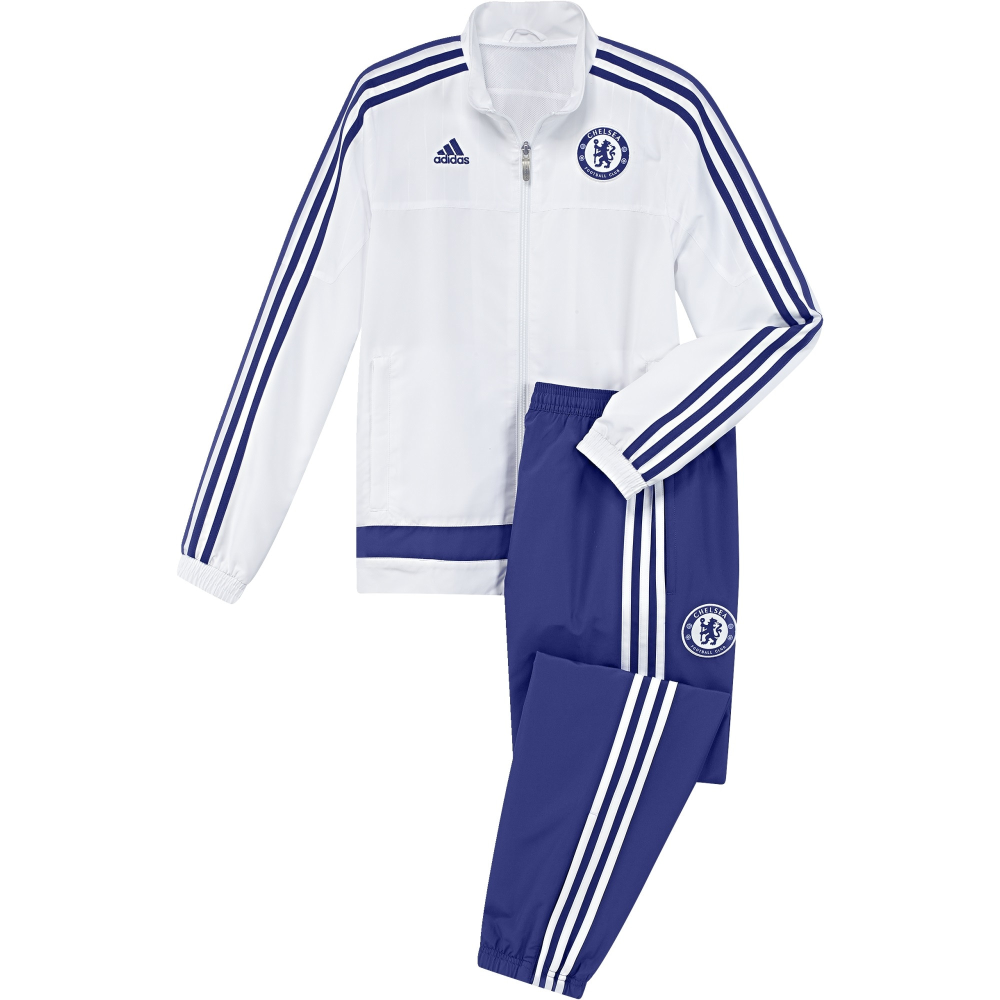 adidas chelsea survetement blanc junior 2015 2016 bons plans. Black Bedroom Furniture Sets. Home Design Ideas