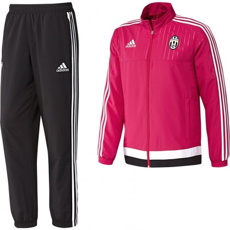 adidas juventus survetement rose noir 2015 2016. Black Bedroom Furniture Sets. Home Design Ideas