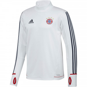 ADIDAS BAYERN TRG TOP JUNIOR BLANC 2018