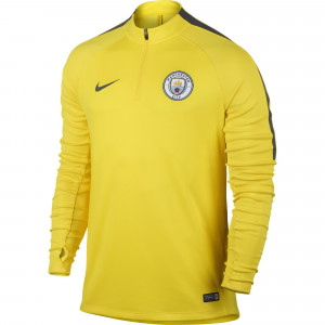 NIKE MANCHESTER CITY TRG TOP JAUNE 2016/2017
