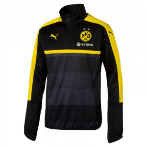 PUMA DORTMUND TRAINING TOP NOIR/GRIS 2016/2017