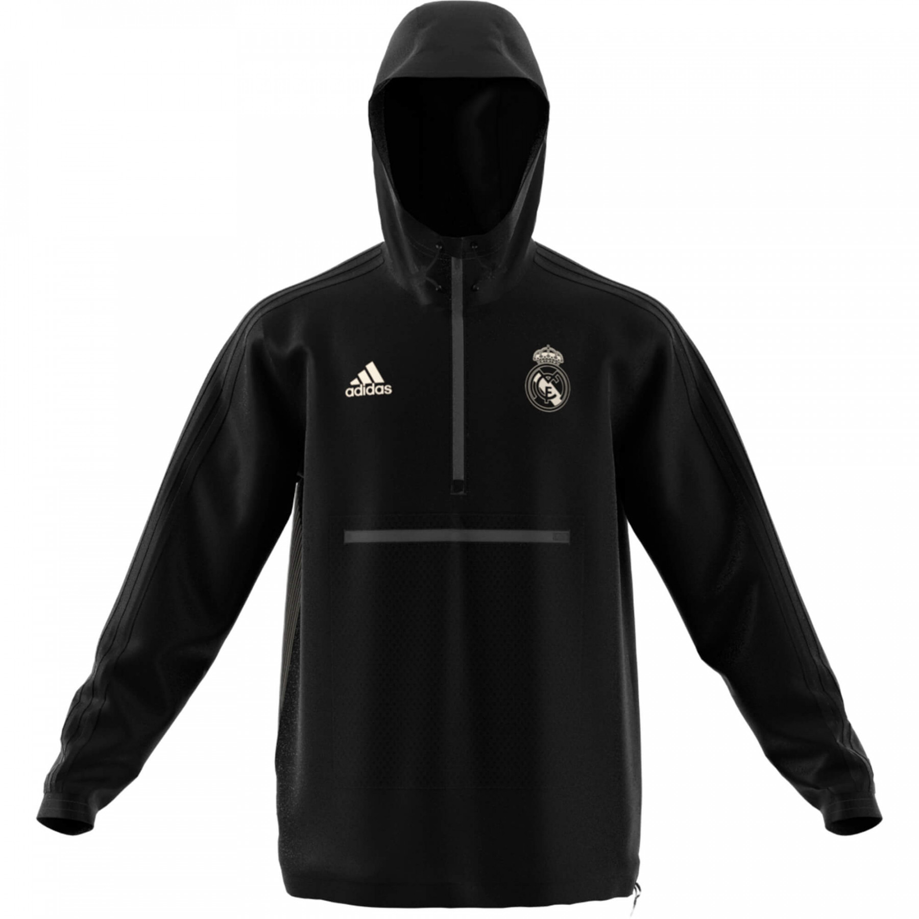 Sweat coupe vent adidas real madrid adulte 2018 2019 noir gris - Coupe vent adidas junior ...