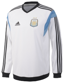 ADIDAS ARGENTINE SWEAT TOP BLANC 2014