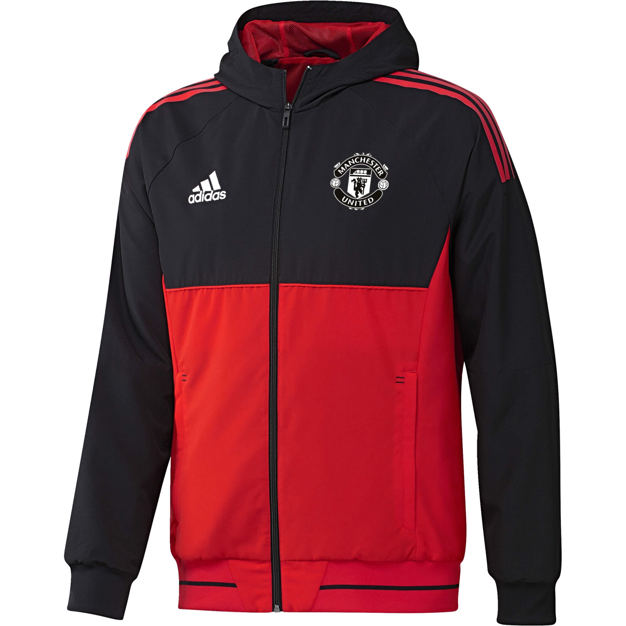 20172018 Jkt Pre Rayon Eu United Adidas Manchester Rouge Veste tIRqanYw