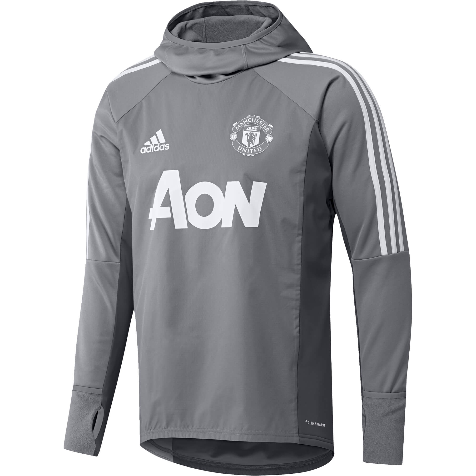 ADIDAS MANCHESTER UNITED WARM TOP GRIS 20172018 Sweat