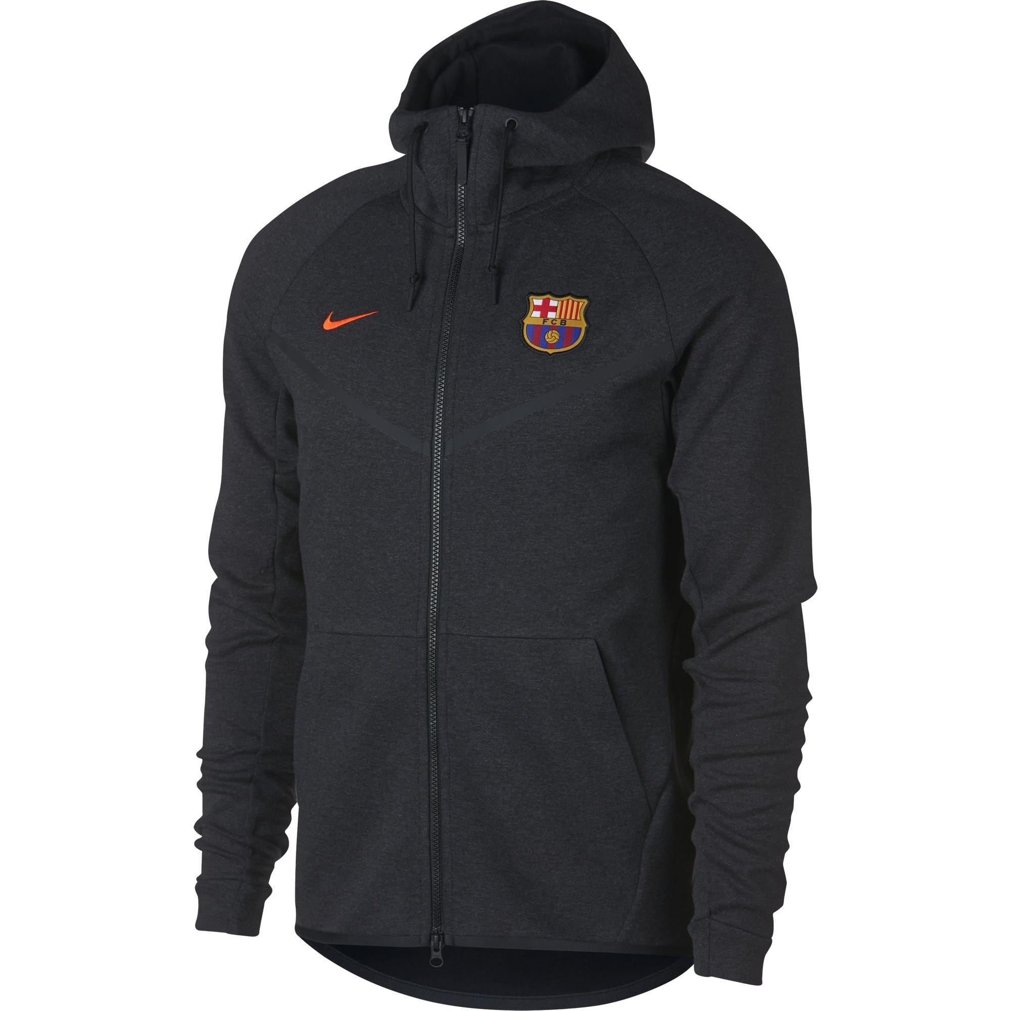 Barcelone Nike Fleece 20172018 Noir Veste Jkt Rayon Tech aUdqwUf