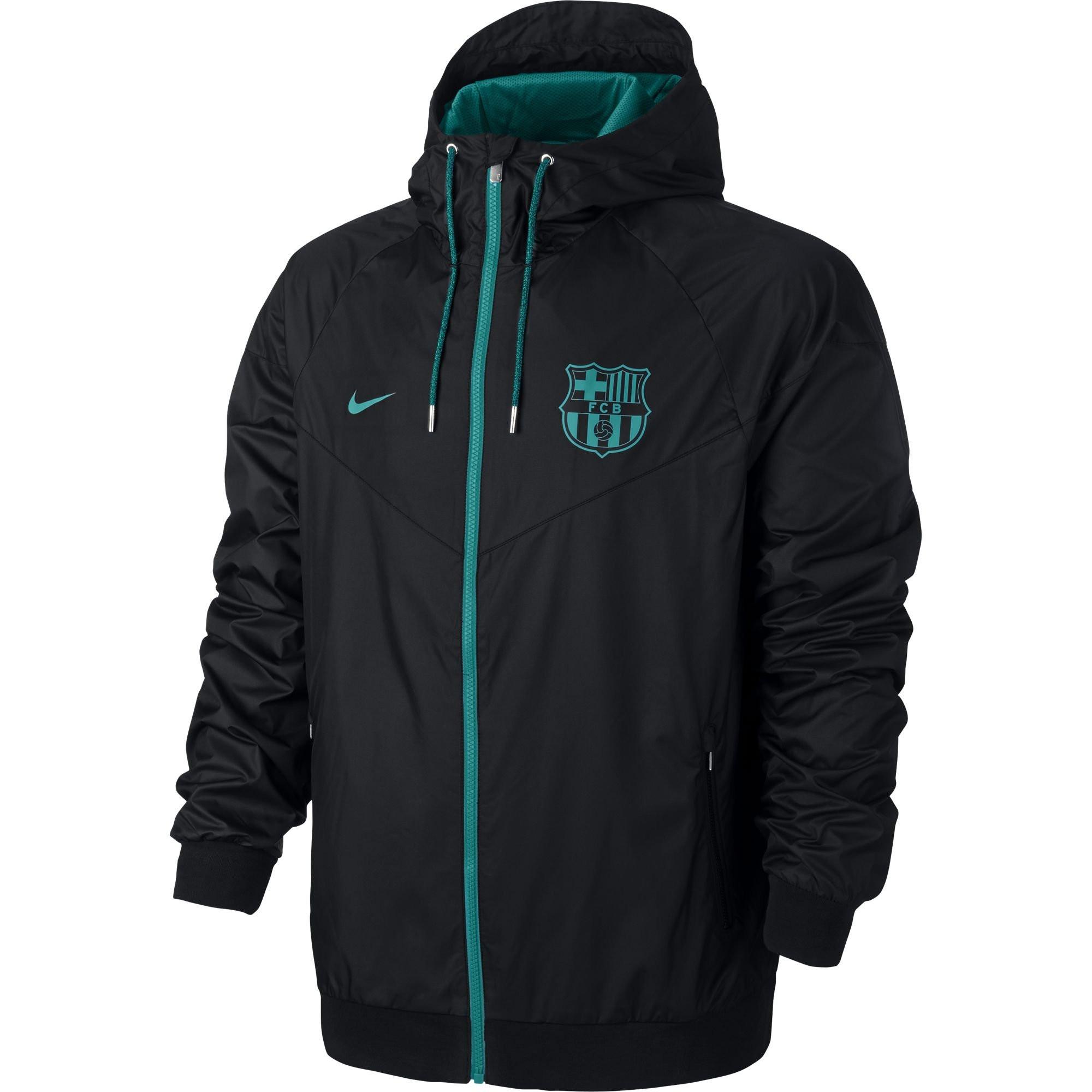 Nike Rayon Veste 20162017 Windrunner Noir Barcelone P8qHBz