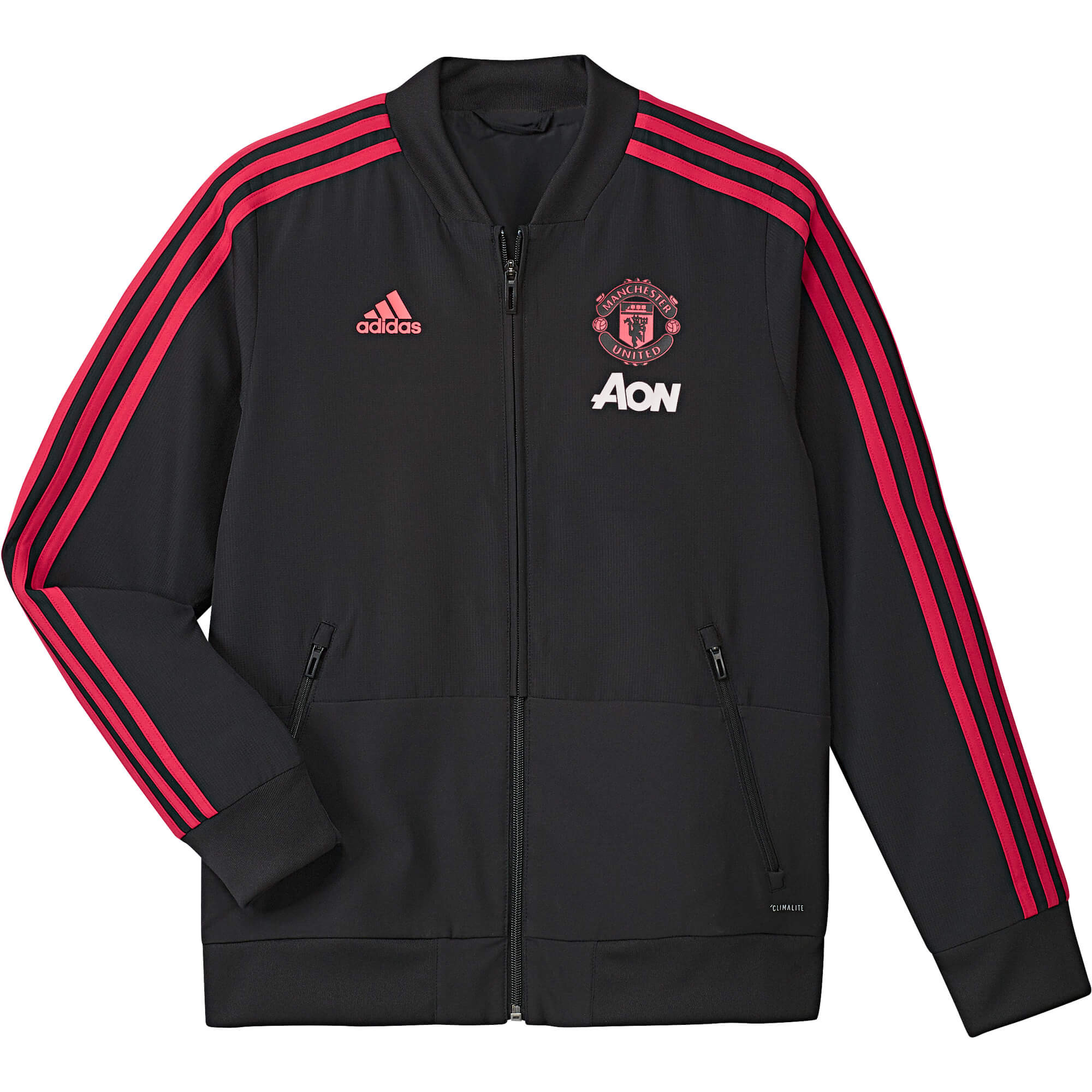 ADIDAS MANCHESTER UNITED VESTE DE SURVETEMENT JUNIOR NOIR 2018 2019 ... 108e4c9a591