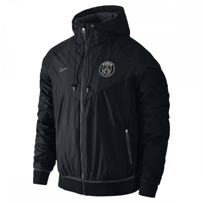 nike psg windrunner noir 2017 2018. Black Bedroom Furniture Sets. Home Design Ideas