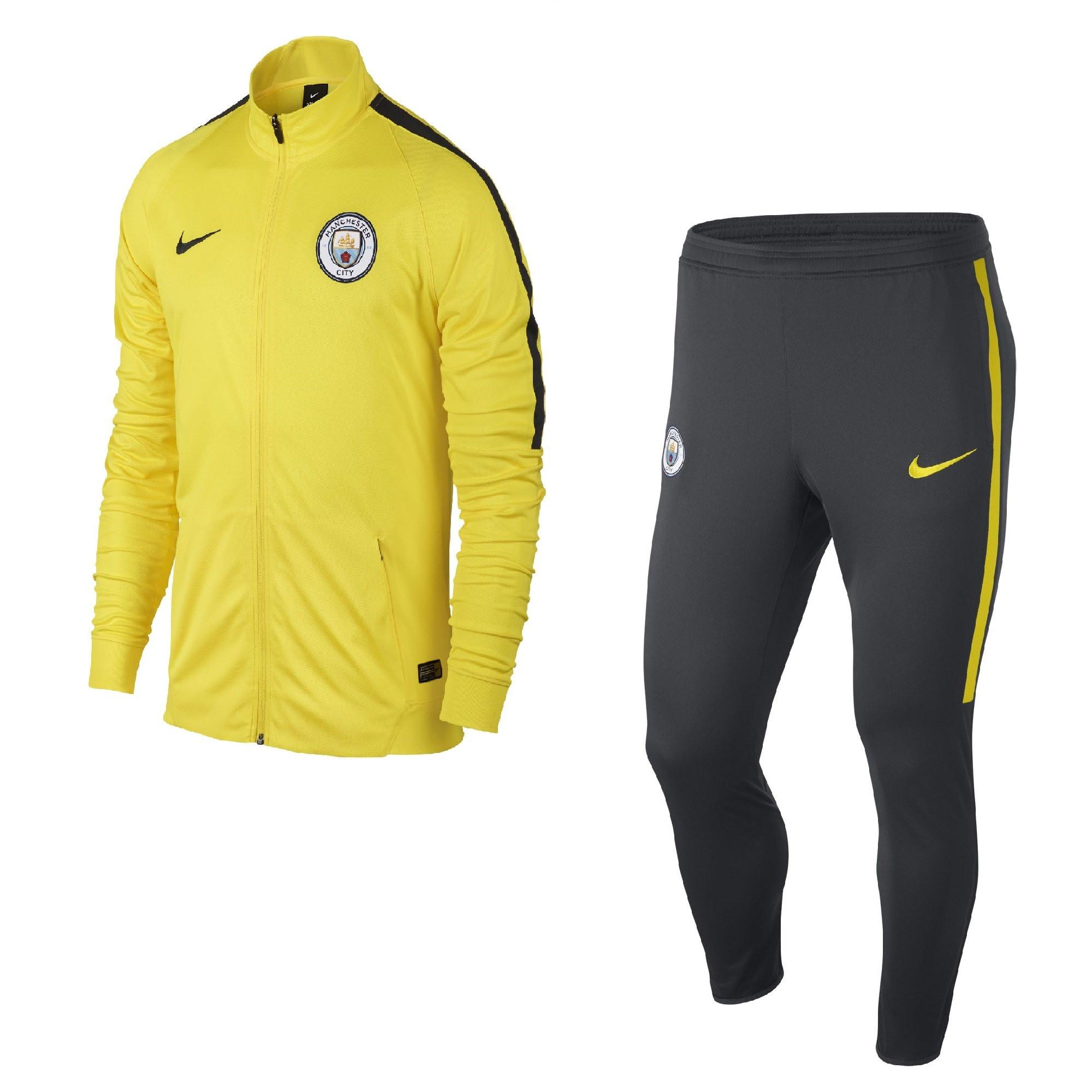 Nike manchester city pre suit jaune 2016 2017 for Univers du jardin maule 78