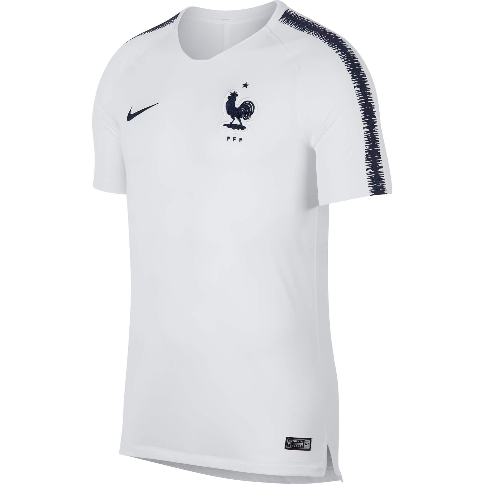 nike fff maillot entrainement blanc cdm 2018 893283 102. Black Bedroom Furniture Sets. Home Design Ideas