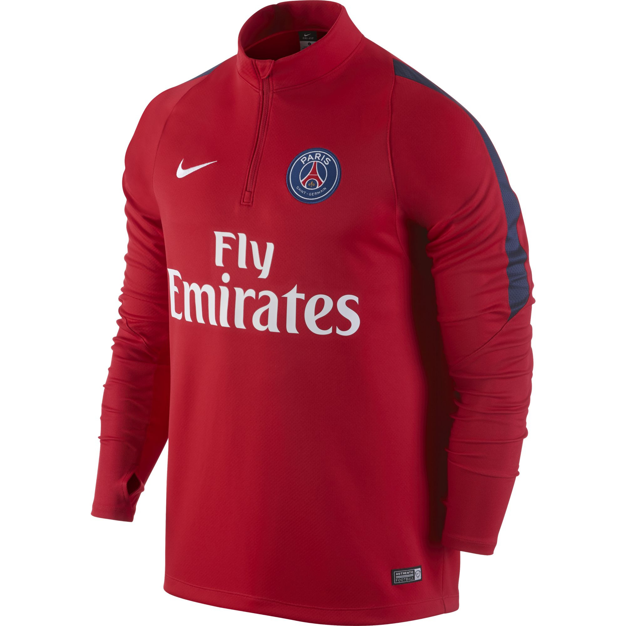 nike psg sweat entrainement rouge 2016 psg club francais. Black Bedroom Furniture Sets. Home Design Ideas