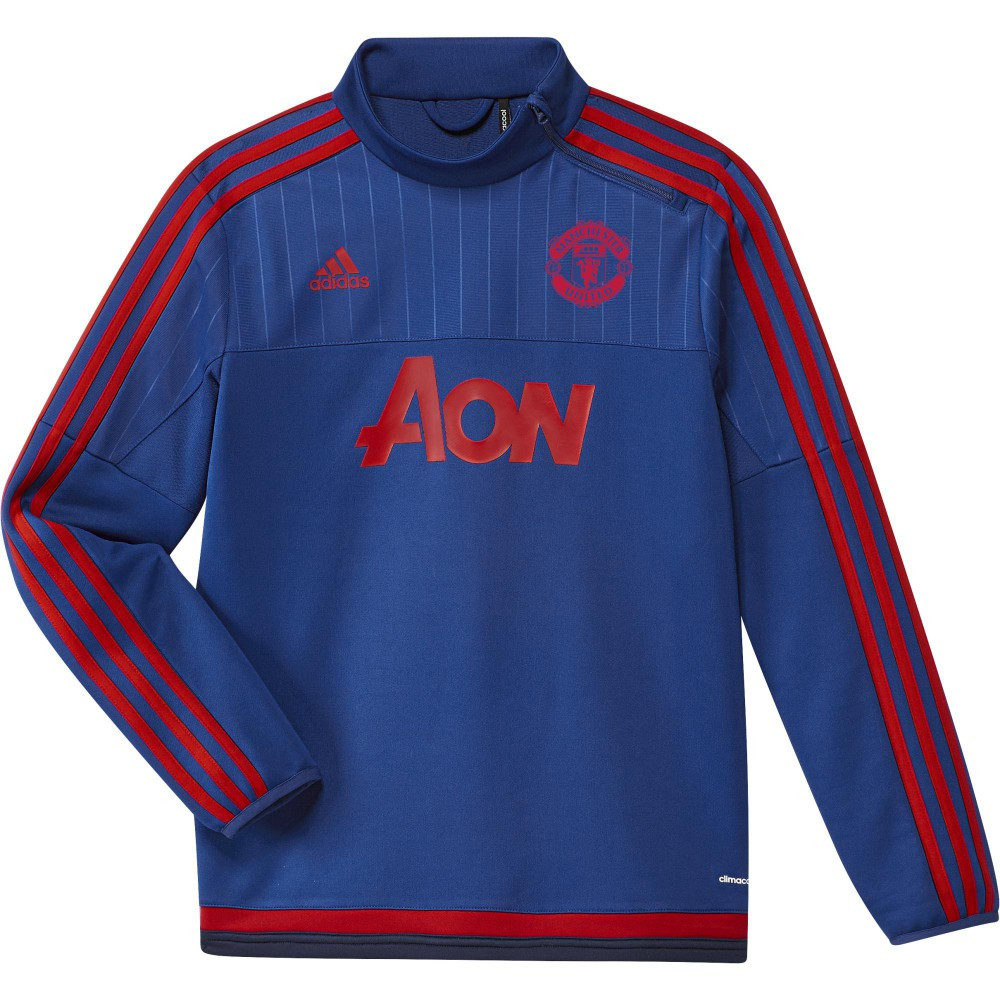 adidas manchester united sweat entrainement jr 2015 2016. Black Bedroom Furniture Sets. Home Design Ideas