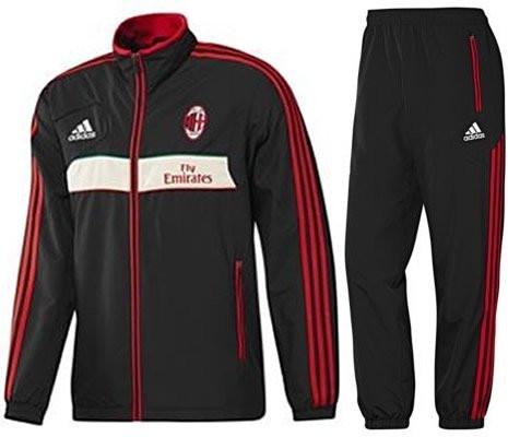 Haut de survêtement adidas Originals AC Milan Superstar NoirRouge