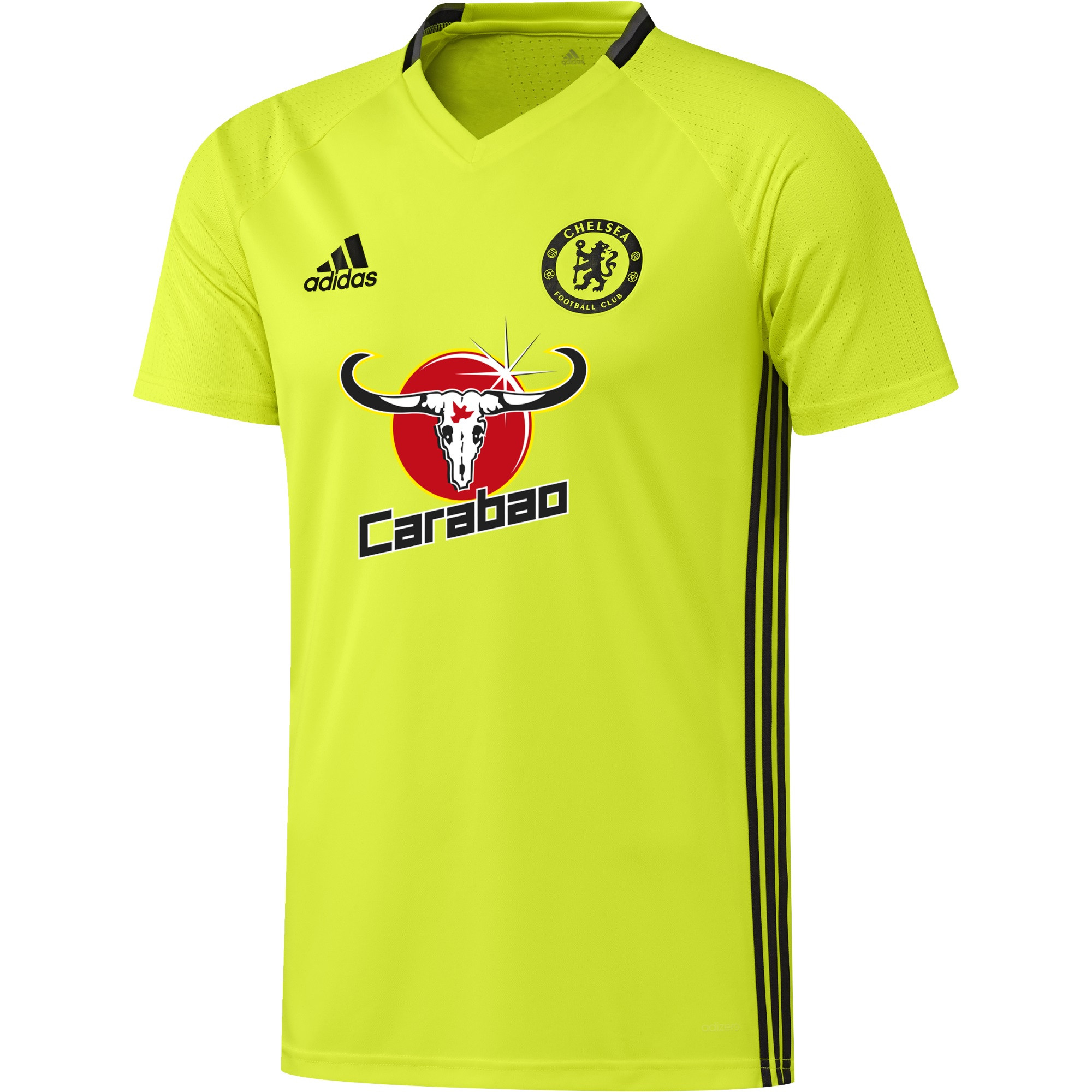 ADIDAS CHELSEA MAILLOT ENTRAINEMENT JAUNE FLUO 20162017