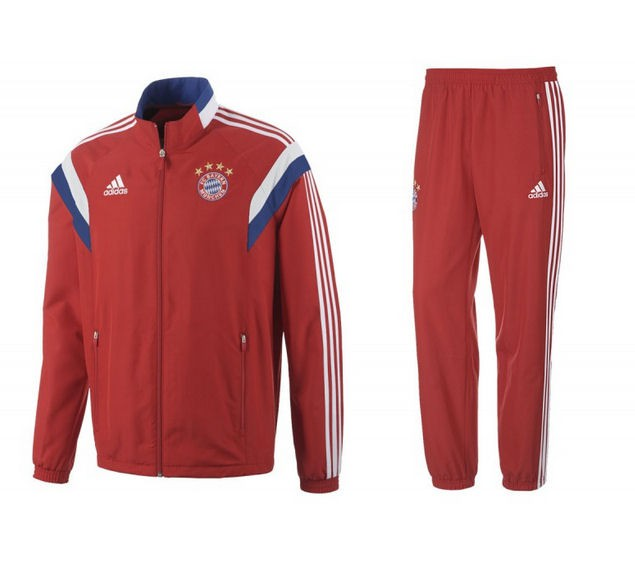 ADIDAS BAYERN SURVETEMENT ROUGE 2014-2015