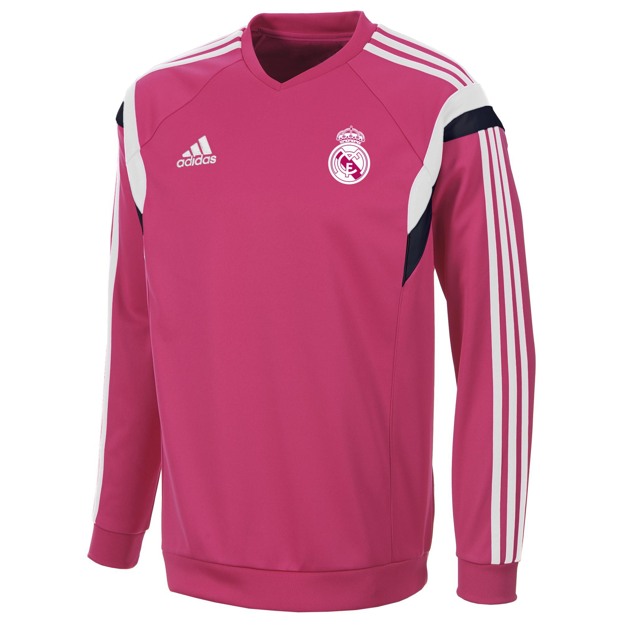 adidas real madrid sweat top rose 2014 2015 taille s sweat entrainement rayon. Black Bedroom Furniture Sets. Home Design Ideas