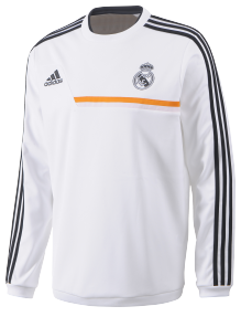 ADIDAS REAL SWEAT TOP BLANC 20132014 Real madrid CLUB