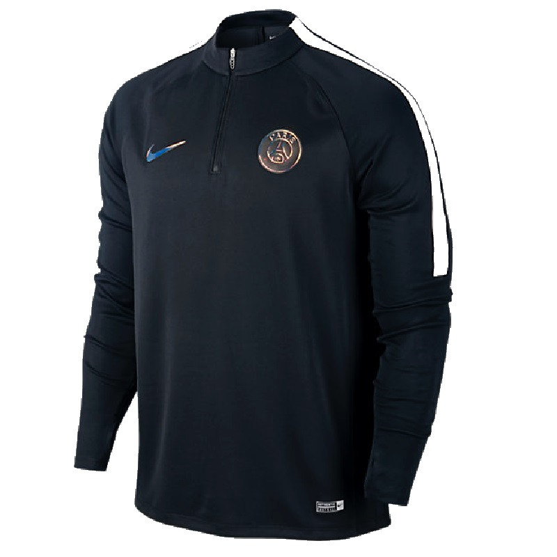nike psg training top junior noir 2016 2017 club francais. Black Bedroom Furniture Sets. Home Design Ideas