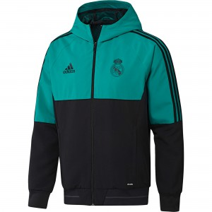 ADIDAS REAL MADRID PRE JKT TURQUOISE 2018