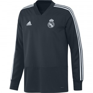 ADIDAS REAL MADRID TRG TOP GRIS 2018/2019