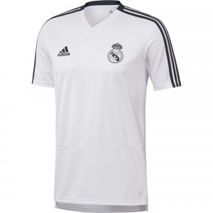 ADIDAS REAL MADRID MAILLOT ENTRAINEMENT BLANC 2018/2019