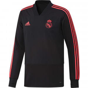 ADIDAS REAL MADRID EU TRG TOP NOIR/ROUGE 2018/2019