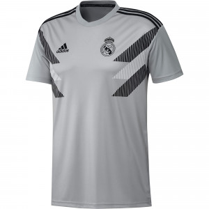 ADIDAS REAL MADRID TRG JSY PRE MATCH GRIS 2018/2019