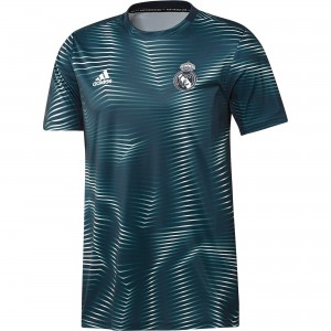 ADIDAS REAL MADRID TRG JSY PRE MATCH ANTHRACITE 2019