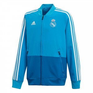 ADIDAS REAL MADRID PRE JKT JUNIOR BLEU 2019