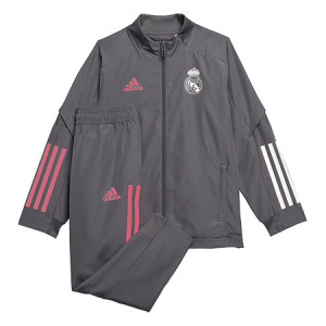 ADIDAS REAL MADRID PRE SUIT IN GRIS 2020/2021