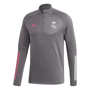 ADIDAS REAL MADRID TRG TOP GRIS 2020/2021