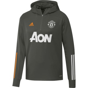 ADIDAS MANCHESTER UNITED TRG TOP HOODY GRIS 2020/2021