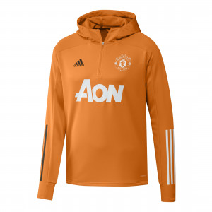 ADIDAS MANCHESTER UNITED TRG TOP HOODY ORANGE 2020/2021