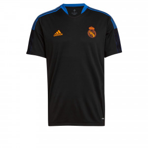 ADIDAS REAL MADRID MAILLOT ENTRAINEMENT NOIR 2021/2022
