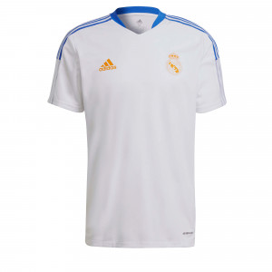 ADIDAS REAL MADRID MAILLOT ENTRAINEMENT BLANC 2021/2022