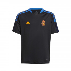 ADIDAS REAL MADRID MAILLOT ENTRAINEMENT JUNIOR NOIR 2021/2022