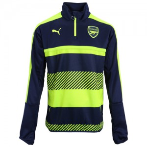 PUMA ARSENAL TRAINING TOP JUNIOR MARINE/FLUO 2016/2017